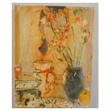 1066OIL PAINTING ON CANVAS SIGNED MULLEN, TITLED *NOTE TO MODIGLIANI*. IMAGE SIZE 18 IN X 24 IN.