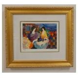 1087TARKAY HAND SIGNED AND NUMBERED SERIGRAPH, TITLED *INTIMATE MOMENTS IV* 229/350. IMAGE SIZE 11