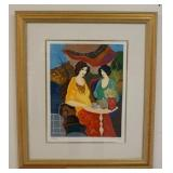 1089TARKAY HAND SIGNED AND NUMBERED ARTIST PROOF SERIGRAPH, TITLED *SUNDAY AFTERNOON 1*  4/45. IMAG
