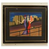 1095ART DECO PRINT ARTIST PROOF SIGNED. IMAGE SIZE 27 1/2 X 20 3/4 IN., OVERALL DIMENSIONS 40 1/4 I