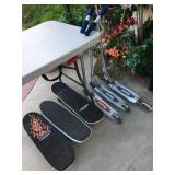 Skateboards & razor Scooters