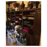 LOTS of Misc. Linens - 4 Bookcases