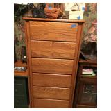 Golden Oak Tall dresser