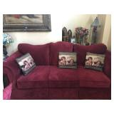 1 of 2 Burgundy Sofas