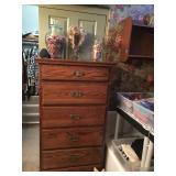 Dark Oak Tall Dresser