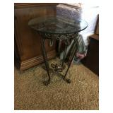 Metal / Glass Accent table
