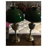 Vintage Green Lamps