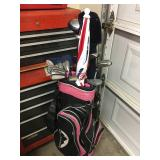 Golf Bag w/ Misc. Golf Clubs