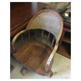 Cane back office chair