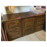 Oak Filing cabinets w/ keys