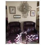 (2) Leather Reclining Arm Chairs