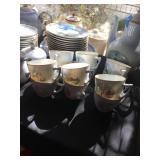 B&G Copenhagen Luncheon Plates/cups/saucers