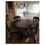 Kitchen table w/drop leaf sides  - reversible Game table top