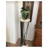 1 of 2 Metal Wall Decor / Pedestal