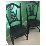 (2) Black Chcairs