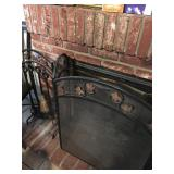 Fireplace Screen & Fireplace Tools
