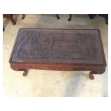 Asian Carved Coffee Table