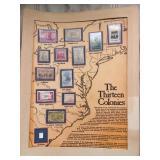 Thirteen Colonies Stamp Set