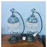 (2) Small Stained Glass Lamps