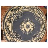 Round Blue Area Rug - NEW