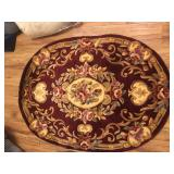 Burgundy Area Rug - NEW