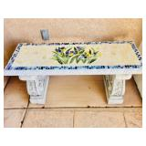 1 of 2 Mosaic Cement Benches