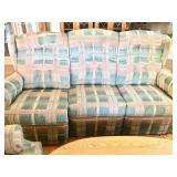 Plaid Reclining Sofa