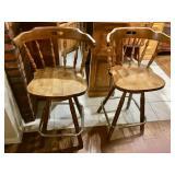 (2) Maple Barstools
