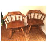 (2) Vintage Maple Chairs