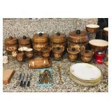 Treasure Craft Vintage Barrell Cannister Set