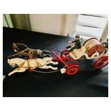 Antique Cast Iron Horse Drawn Fire Truck - RARE!
