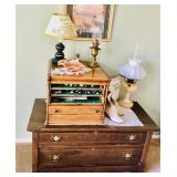 Vintage Dresser / Antique Boots / Lamps