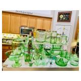 Vintage Green Kitchen Items - Juicer - Cookie Jar - Condiment Jars, etc.