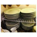 Green China Dinner Plates / Salad Plates