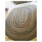 Oval Braided Area Rug -7ft. x 9