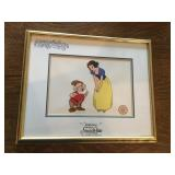 Disney Serigraph Cell w/ Certification - Snow White & Doc