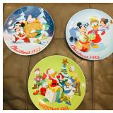 Disney Mickey Mouse Christmas Collector Plates