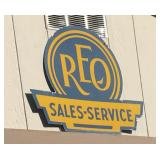 REO Sales & Service Metal Sign