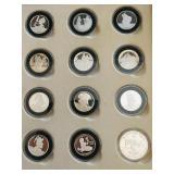 Sterling Silver Disney Cinderella Coins w/ Sleeve & COA