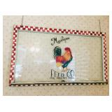 Vintage Painted Rooster Window Frame