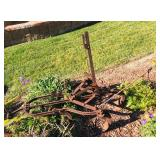 Antique Plow yard Decor