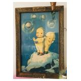 Antique Ice Cream Cupie Doll Sign