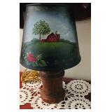 Vintage Painted Lamp