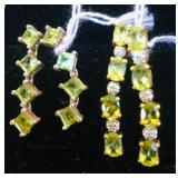 Sterling Peridot Earring Sets