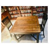 Antique English pub oak table