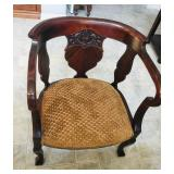 Rounded upholstered chair