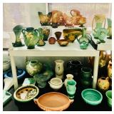 Vintage Pottery including Roseville, McCoy, Bauer, Redwing and others