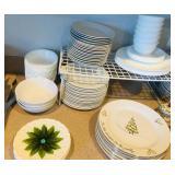 Grayson Hall White Plates