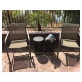 (2) Patio Chairs & end tables