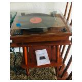 Record player on stand